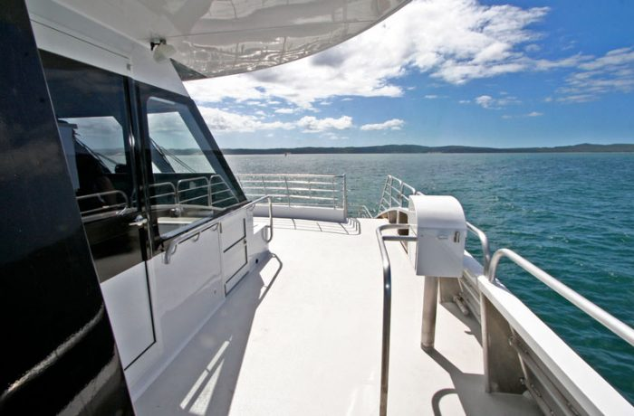 Open deck space on Ocean Dreaming 2